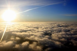 sun above clouds